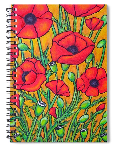 Tuscan Poppies - Crop 2 Spiral Notebook