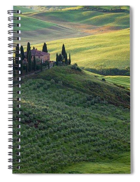 Green Hills Of Val De L' Orca Tuscan Villa Spiral Notebook