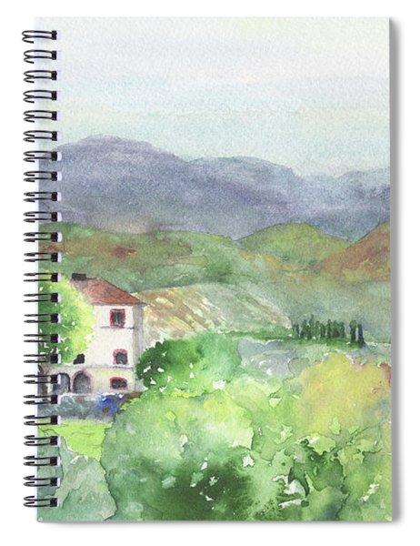 Tuscan Vineyards Spiral Notebook
