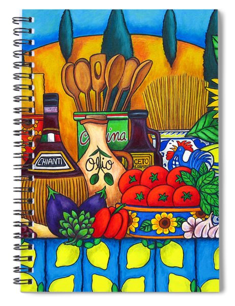 Tuscany Delights Spiral Notebook