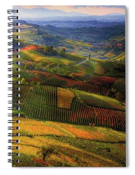 Tuscany, Italian Wineyards  Spiral Notebook