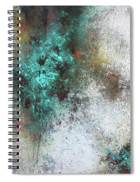 Tuscany Oil And Cold Wax Spiral Notebook