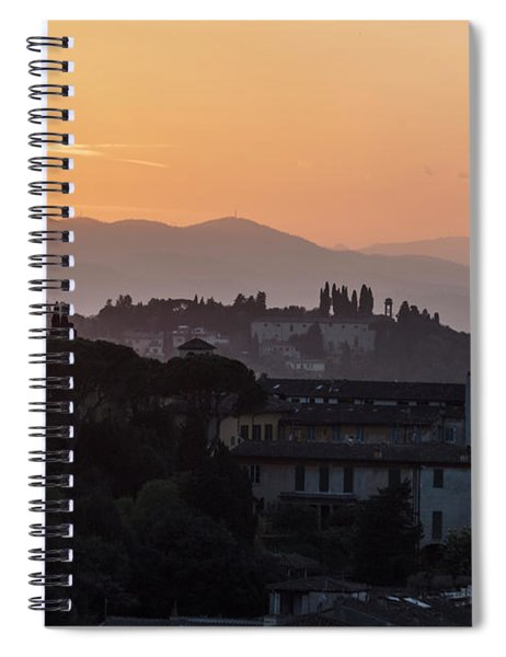 Tuscany Sunset In Florence Italy  Spiral Notebook