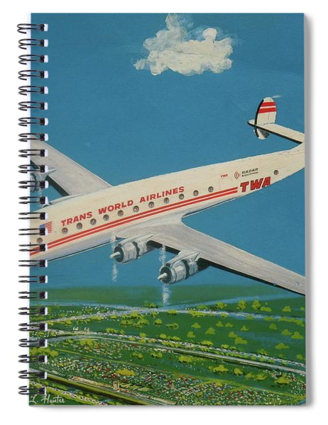 Twa Constellation Over Race Track Spiral Notebook