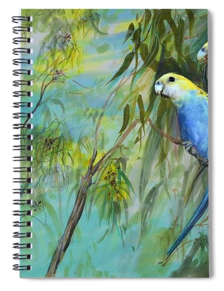 Two Pale-faced Rosellas Spiral Notebook