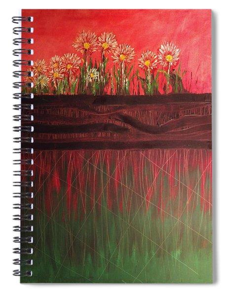 Twelve Daises In Window Box Spiral Notebook
