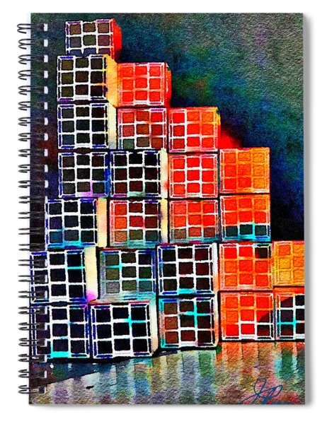 Twenty Four Boxes Spiral Notebook