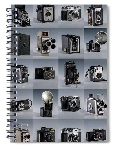 Twenty Old Cameras - Color Spiral Notebook