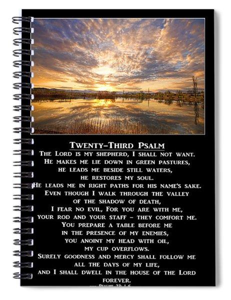 Twenty-third Psalm Prayer Spiral Notebook