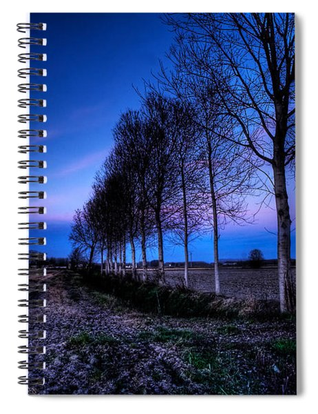 Twilight And Trees Spiral Notebook