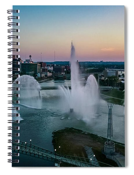 Twilight At The Fountains Spiral Notebook