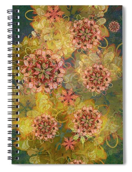Twilight Blossom Bouquet Spiral Notebook