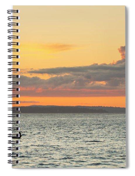 Twilight In Puget Sound  Spiral Notebook