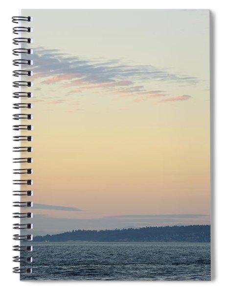 Twilight Moment In Puget Sound Spiral Notebook