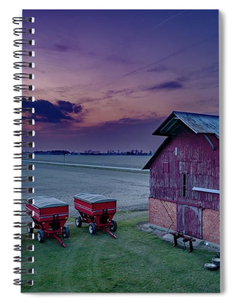 Twilight On The Farm Spiral Notebook