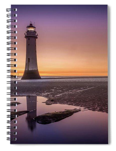 Twilight Reflection, New Brighton Lighthouse Spiral Notebook