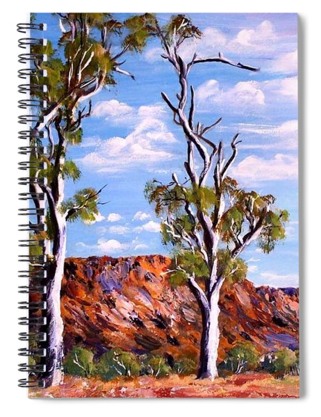 Twin Ghost Gums Of Central Australia Spiral Notebook