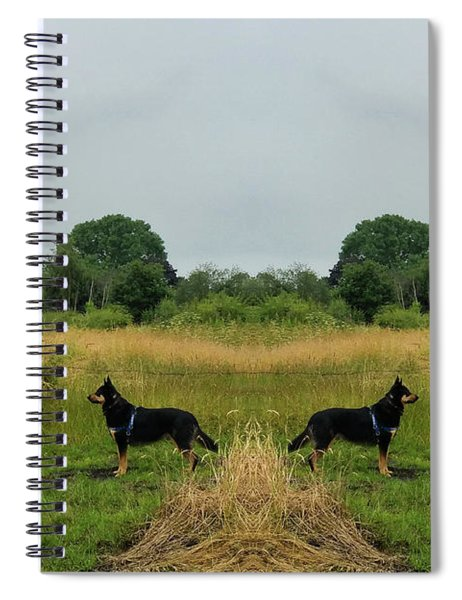 Twin Guards Spiral Notebook