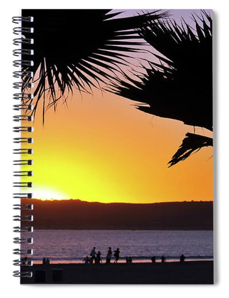 Twin Palms At Sunset Spiral Notebook