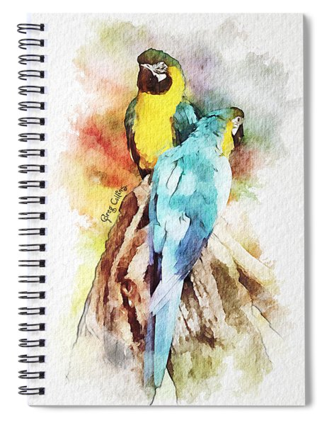 Twin Parrots Spiral Notebook
