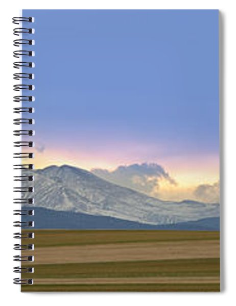Twin Peaks Panorama View From The Agriculture Plains Spiral Notebook