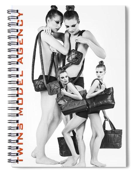 Twins Model Agency Spiral Notebook