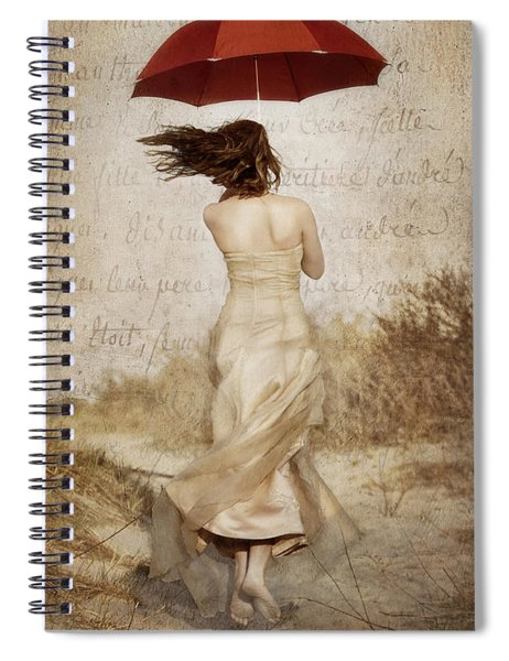 Twirling Painted Lady Spiral Notebook
