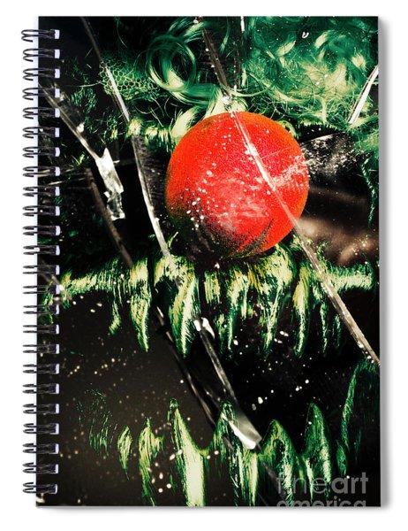 Twisted Evil Clown Portrait Spiral Notebook