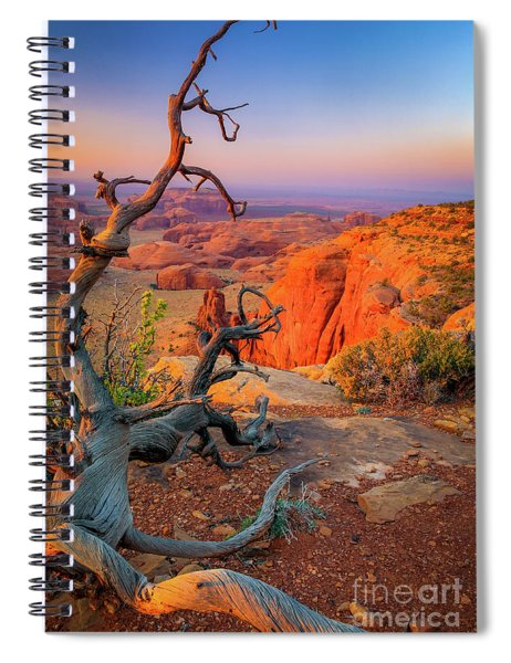 Spiral Notebook featuring the photograph Twisted Remnant by Inge Johnsson