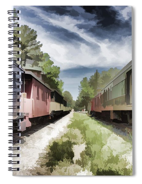 Twixt The Trains Spiral Notebook