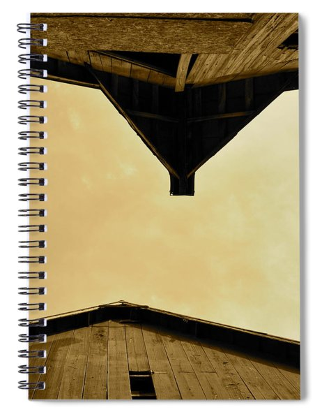 Two Barns In Sepia Spiral Notebook