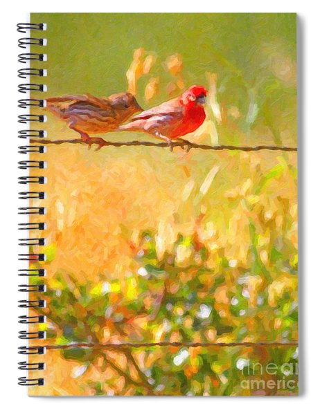 Two Birds On A Wire Spiral Notebook
