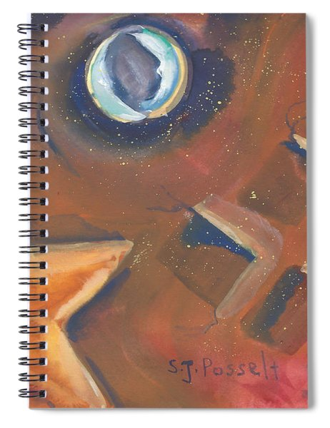 Two Blue Moons Spiral Notebook