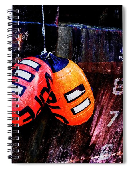 Two Buoys Left Of Depth Square Spiral Notebook