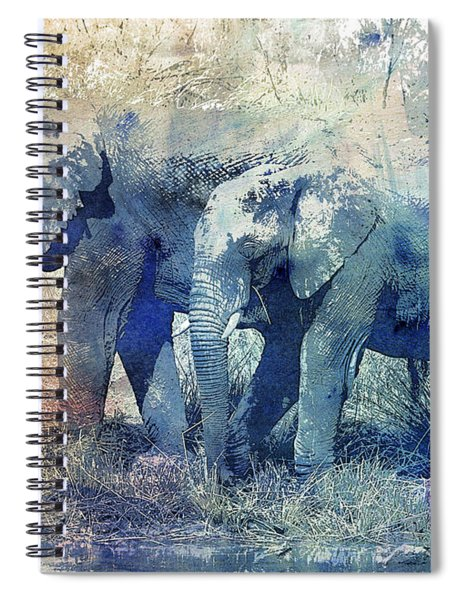 Two Elephants Spiral Notebook