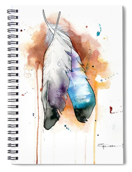 Two Feathers Spiral Notebook