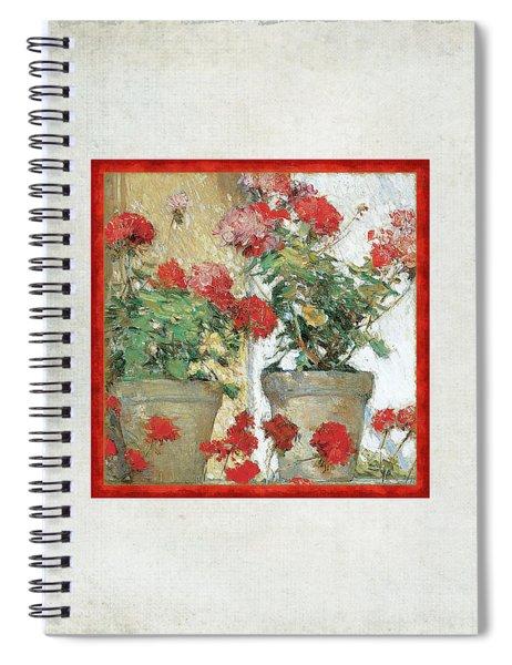 Two Geranium Pots Spiral Notebook