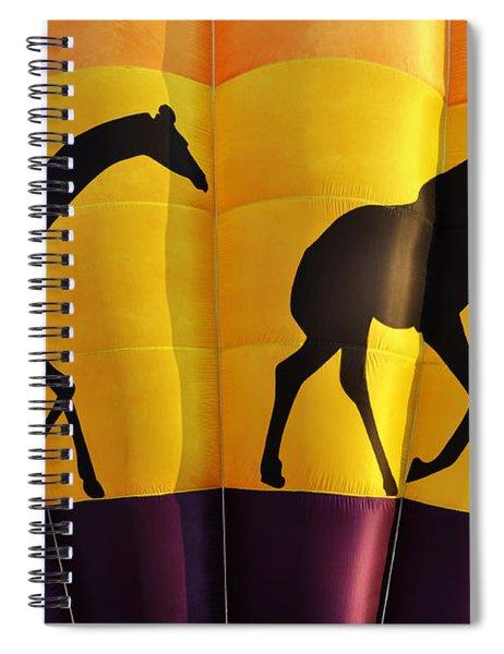 Two Giraffes Riding On A Hot Air Balloon Spiral Notebook