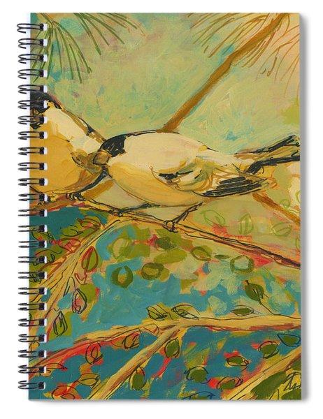Two Goldfinch Found Spiral Notebook