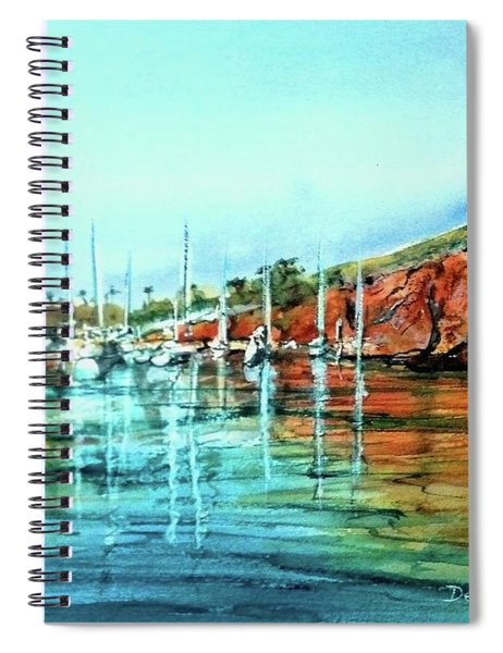 Two Harbors Catalina Morning Impressions Spiral Notebook