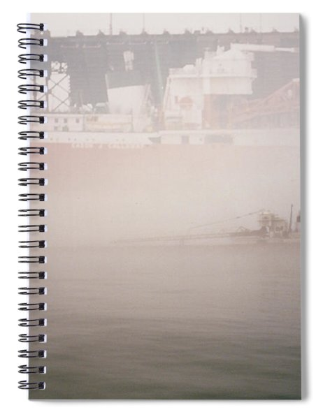 Two Harbors Fog Ship II Spiral Notebook