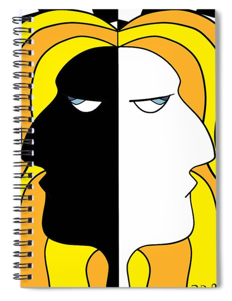 Two Heads Two Souls Spiral Notebook