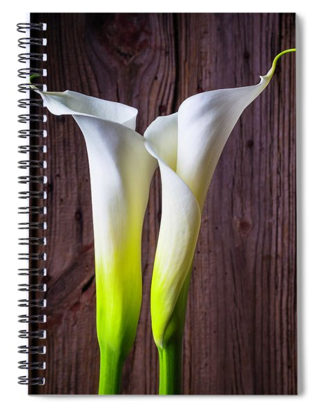 Two Lovely Calla Lilies Spiral Notebook