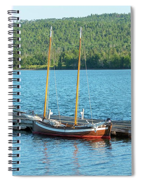 Two Masted Antique Spiral Notebook