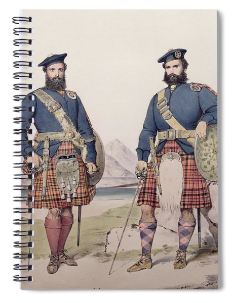 Two Men In Highland Dress Spiral Notebook