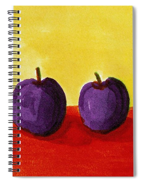 Two Plums Spiral Notebook