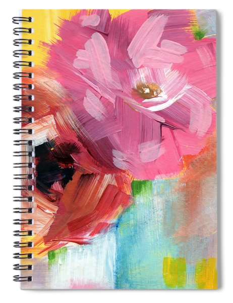 Two Roses- Art By Linda Woods Spiral Notebook