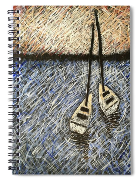 Two Sailboats Spiral Notebook