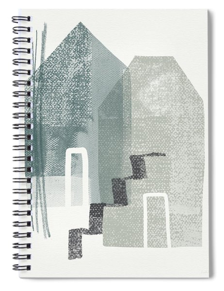 Two Tall Houses- Art By Linda Woods Spiral Notebook