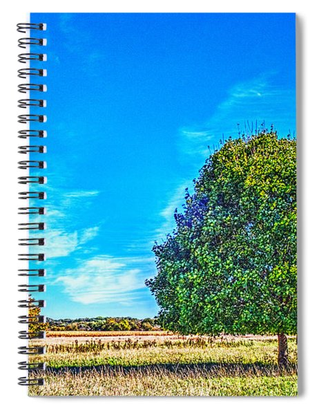 Two Trees On The Illinois Prairie Spiral Notebook